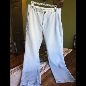 Men's light gray Adidas golf pants